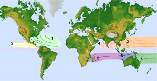 donde se forman los ciclones: